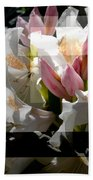 Rhododendron Collage Bath Towel