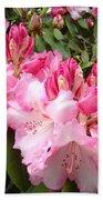 Rhododendron Garden Art Prints Pink Rhodie Flowers Bath Towel