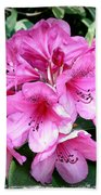 Rhododendron Square With Border Bath Towel