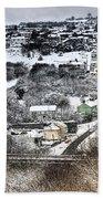 Rhymney Valley Winter 2 Bath Towel