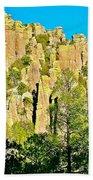 Rhyolite Columns On Ed Riggs Trail In Chiricahua National Monument-arizona Bath Towel