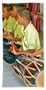 Rhythm Section In Traditional Thai Music Class  At Baan Konn Soong School In Sukhothai-thailand Bath Towel