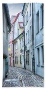 Riga Narrow Street Bath Towel