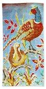 Ringneck Pheasants Bath Towel