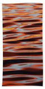 Ripples At Sunset Bath Towel