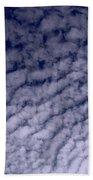 Ripples In The Dark Blue Sky Bath Towel