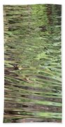 Ripples On Florida River Bath Towel