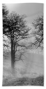 Rising Mists In The Bald Hills Bath Towel