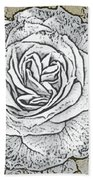 Ritzy Rose With Ink And Taupe Background Bath Towel