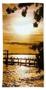 River Acres Jaynes Sunset Bath Sheet by Joan Meyland