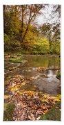 River Blyth In Autumn Vertical Bath Towel