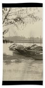 River Fishing Boats In Hoi An Hand Towel