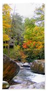 River House In The Fall Bath Towel