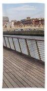River Liffey Boardwalk In Dublin Hand Towel