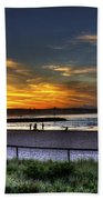 River Mouth At Sunset Bath Towel
