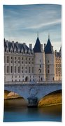 River Seine With Conciergerie Bath Towel