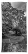 River Tranquility Monochrome Hand Towel