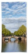 River View Of Amsterdam In The Netherlands Bath Towel