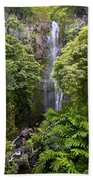 Road To Hana Waterfall - Waimea Valley Maui Hawaii Bath Towel