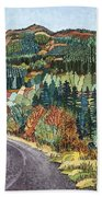 Road To Torloisk, 2008 Wc And Ink Bath Towel