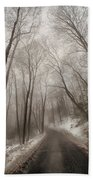Road To Winter Hand Towel