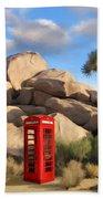 Phone Booth In Joshua Tree Bath Towel