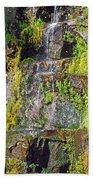 Roadside Waterfall. Mount Rainier National Park Bath Towel