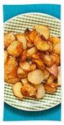 Roast Potatoes Bath Towel