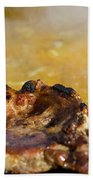 Roasted Steak In Traditional Kotlovina Dish Bath Towel