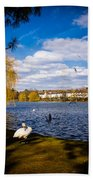 Roath Park Lake Bath Towel