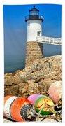 Robinson Point Lighthouse Bath Towel