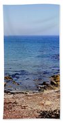 Rock Formations On The Beach, Marcona Bath Towel