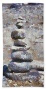 Rock Markers Photo Art 02 Bath Towel