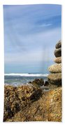Rock Sculpture At The Beach Bath Towel