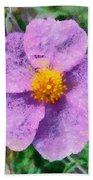 Rockrose Wild Flower Bath Towel