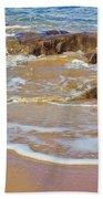 Rocks And Waves Bath Towel