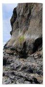Rocks At Arcadia Beach Bath Towel