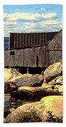Rocks At Bay In Nova Scotia Bath Towel