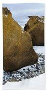 Rocks At Brown Bluff, Antarctica Bath Towel