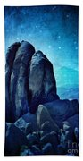 Rocky Cliff In Starlight Bath Towel