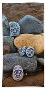 Rocky Faces In The Sand Bath Towel