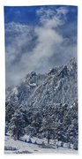 Rocky Mountain Dusting Of Snow Boulder Colorado Bath Towel