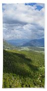 Rocky Mountain National Park Panorama Bath Towel