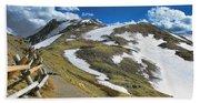 Rocky Mountains Path Bath Towel