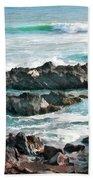 Rocky Ocean Shoreline One Bath Towel
