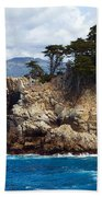 Rocky Outcropping At Point Lobos Bath Towel