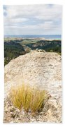 Rocky Outcrops Of Trotters Gorge Otago Nz Bath Towel