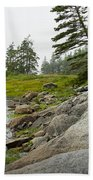 Rocky Shore By The Narrows To Mount Desert Island Hand Towel