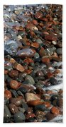 Rocky Shoreline Abstract Bath Towel