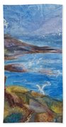 Rocky Shores Of Maine Bath Towel